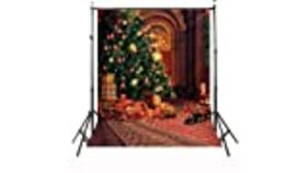 Image of a Christmas Tree 5'W x 8'H Backdrop