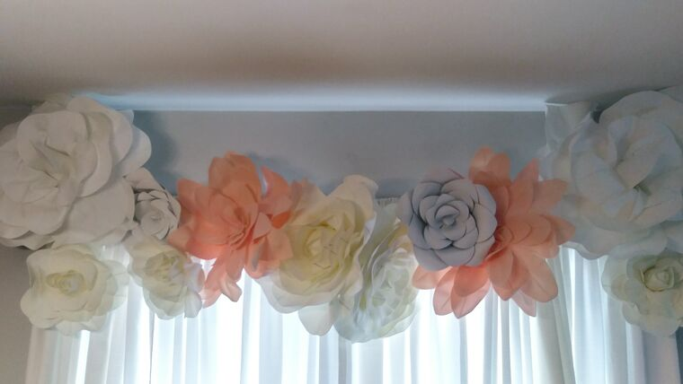 "Picture of a 16"" Peach Foam Flowers"