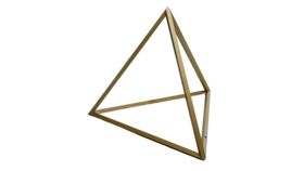 Image of a 3' Gold Aluminum Tetrahedron