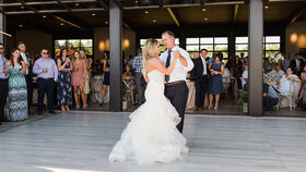 Image of a 12' x 12' Grey Weathered Wood Dance Floor