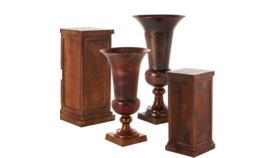 Image of a Antique Copper Pedestal