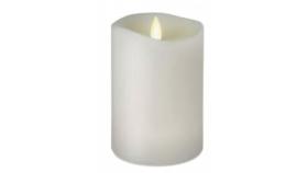 "Image of a 6"" White LED Pillar Candle"