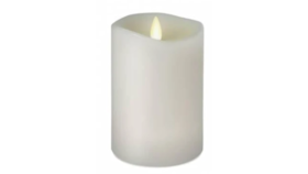 "Image of a 8"" White LED Pillar Candle"