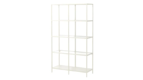 Image of a Alison - Metal and Glass Shelving Unit