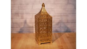 Image of a Gold Solid Moroccan Lantern