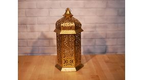 Image of a Gold Moroccan Lantern