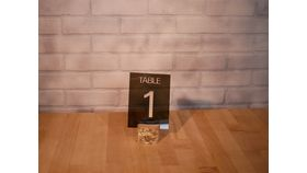 Image of a Smoked Plexi Table Numbers