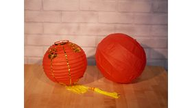 """Image of a 8"""" Chinese Paper Lantern"""