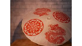 Image of a White Chinese Umbrella