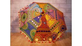 Image of a Moroccan Multi-Colored Umbrellas