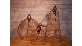 Image of a Large Copper Wire Hanging Pendants