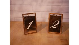 Image of a Rose Gold Foil Table Numbers
