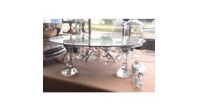 """Image of a 19"""" Round Bling Mirror Cake Stand Accessories"""
