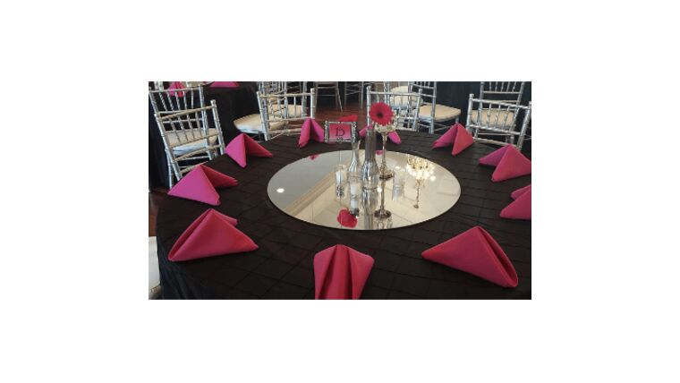 """Picture of a 30"""" Round Centerpiece Mirrors"""