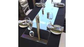 """Image of a 60"""" L x 18"""" W Beveled Edge Rectagle Centerpiece Mirrors"""