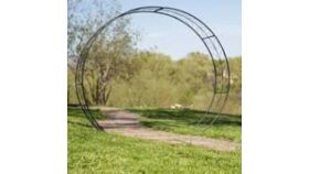 """Image of a Moon Gate Arch - 76"""" Tall, 88"""" Wide, 23"""" Deep (Black) Arches"""
