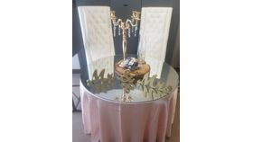 Image of a 4ft Round Centerpiece Mirrors