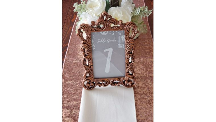 Picture of a Framed Place Card Holder