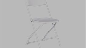 Image of a Plastic Folding Chair White