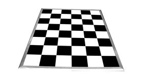 Image of a 9' x 12' Black and White Dance Floor