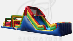Image of a Obstacle Course with Slide