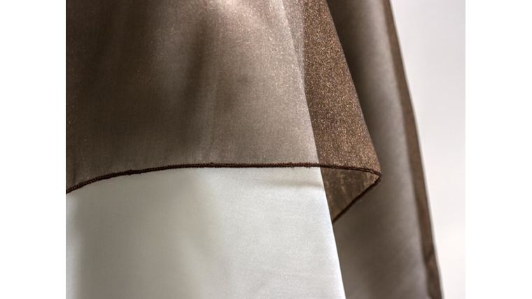 """Picture of a 4"""" 108"""" Chair Sash Brown 939 Sparkle Organza"""
