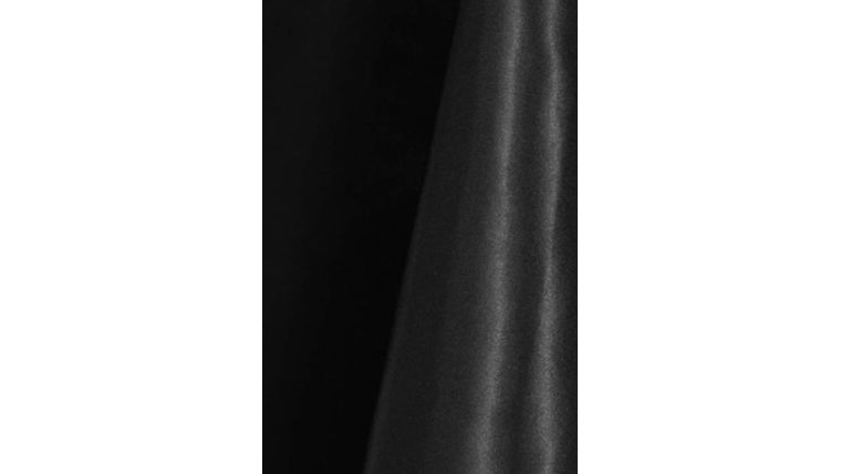 """Picture of a 4"""" 108"""" Chair Sash Black 633 Poly Satin"""
