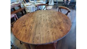 Image of a Round Farm Table