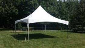 Image of a 20' x 20' High Peak & Sides Frame Tent