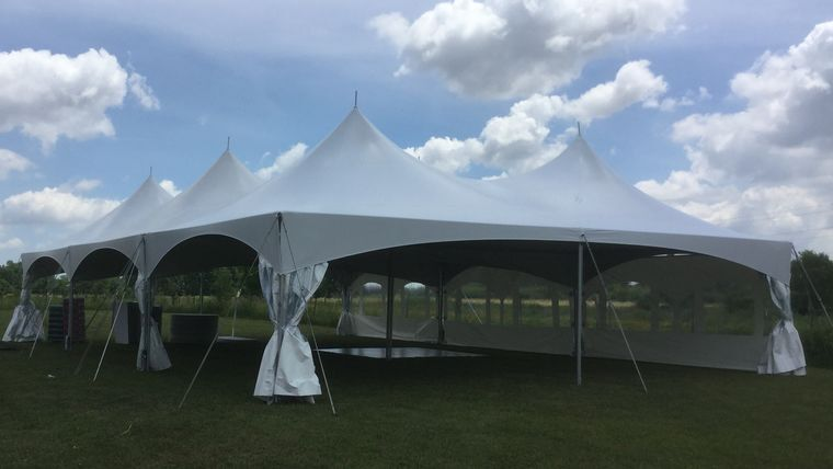 Picture of a 40' x 60' High Peak & Sides Tent