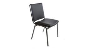 Image of a Stacking Chair Black/Chrome without arms