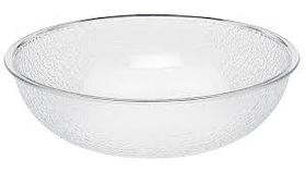 """Image of a Bowl Clear Acrylic Pebble 18"""""""