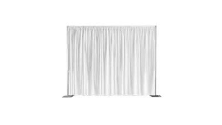 Picture of a Pipe and Drape 8' High White (per linear foot)