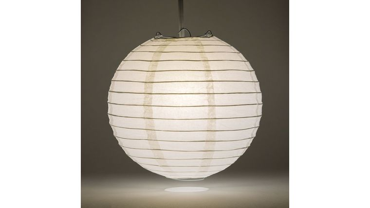 "Picture of a 12"" White Paper Lanterns"