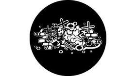 Image of a Abstract Grafitti 2 78605 B Standard Steel Rosco Gobos & Lenses