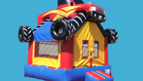 Image of a Monster Truck Bounce House