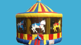 Image of a Carousel Bounce House