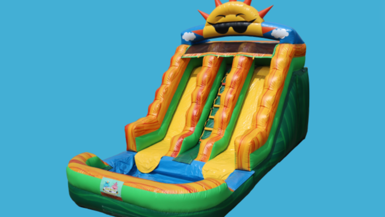 Picture of a 17ft Double Lane Summer Slide (Wet or Dry)