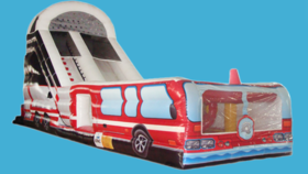 Image of a 20ft Fire Truck Slide (Dry)