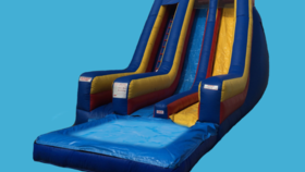 Image of a 24ft Screamer Double Lane with Pool Slide