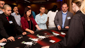 Image of a Blackjack Table - Standing Height