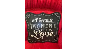Image of a ALL BECAUSE TWO PEOPLE FELL IN LOVE ~SIGN