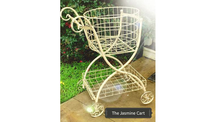 """Picture of a """"Jasmine"""" Shabby Chic Flower Cart"""