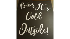 Image of a Baby It's Cold Outside Canvas
