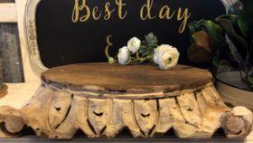 Image of a Cake Plateau wood/ornate