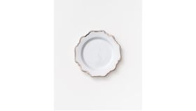 Image of a Anna's Antique Salad+Dessert Plate | Platinum