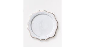 Image of a (Showroom) Anna's Antique Charger Plate | Platinum