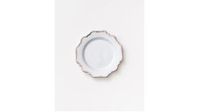 Image of a (Showroom) Anna's Antique Salad+Dessert Plate | Platinum