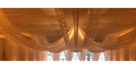 Image of a Ceiling Drapes Starlights add on