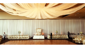 Image of a Ceiling Draping Starburst 20FT Panels (44 ft wide)